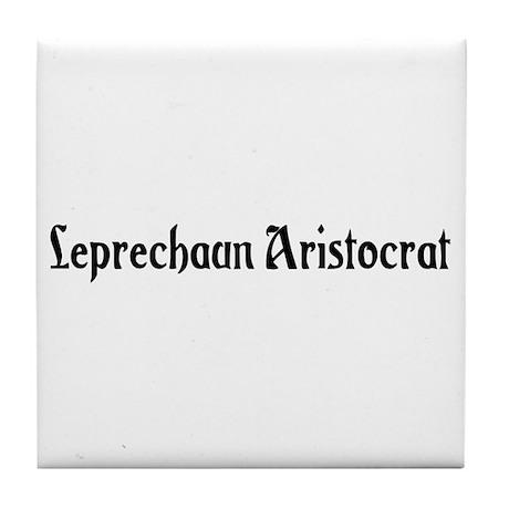 Leprechaun Aristocrat Tile Coaster