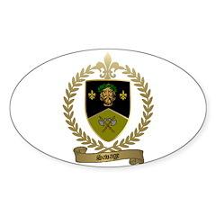 SAVAGE Family Crest Oval Sticker