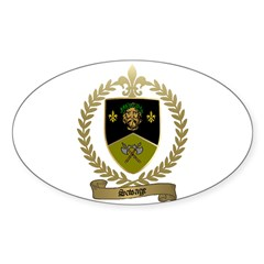 SAVAGE Family Crest Oval Decal