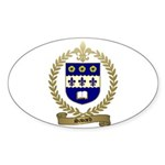SAVARD Family Crest Oval Sticker