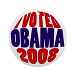 I Voted Obama 2008 Xmas Ornament