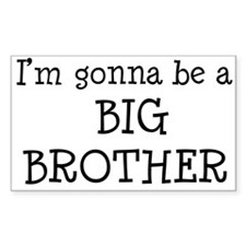 Gonna Be Big Brother Rectangle Decal