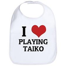 I Love Playing Taiko Bib