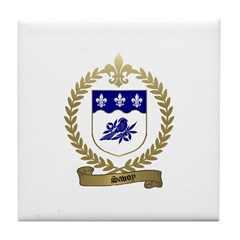 SAVOY Family Crest Tile Coaster