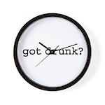 got drunk? Wall Clock