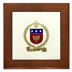 SICARD Family Crest Framed Tile