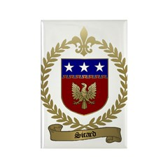 SICARD Family Crest Rectangle Magnet (100 pack)