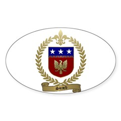 SICARD Family Crest Oval Decal