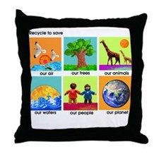 Recycle Throw Pillow