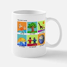 Recycle ReUse colorful design Mug