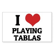 I Love Playing Tablas Rectangle Stickers