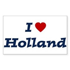 I HEART HOLLAND Rectangle Stickers