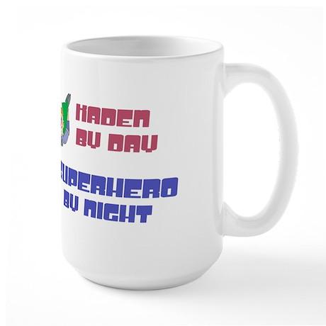 Kaden - Super Hero by Night Large Mug