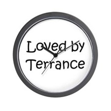 Cute Terrance name Wall Clock