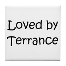 Unique Terrance name Tile Coaster