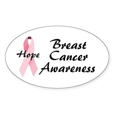 Breast Cancer Awareness Oval Sticker