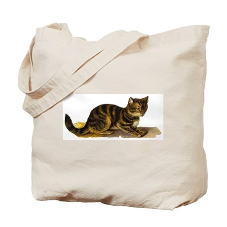 CAT ON STRAW Tote Bag