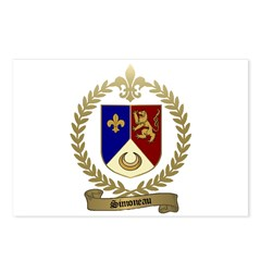 SIMONEAU Family Crest Postcards (Package of 8)