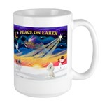 XmasSunrise/Poodle Min Large Mug