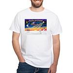 XmasSunrise/Poodle Min White T-Shirt