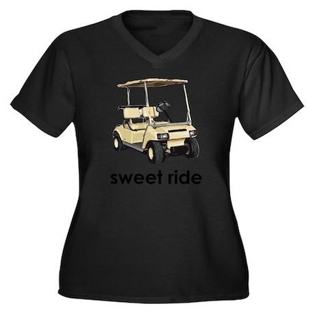sweet ride Women's Plus Size V-Neck Dark T-Shirt