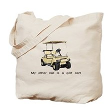 my other car is a golf cart Tote Bag