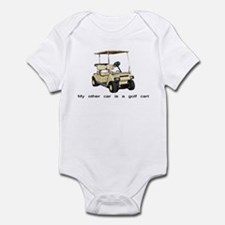 my other car is a golf cart Infant Bodysuit