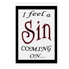 FEEL A SIN COMING ON 2 Postcards (Package of 8)