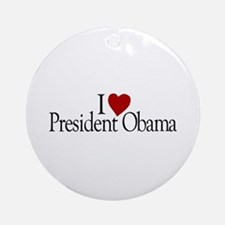 I Love President Obama Ornament (Round)
