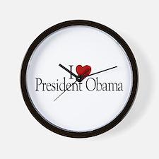 I Love President Obama Wall Clock