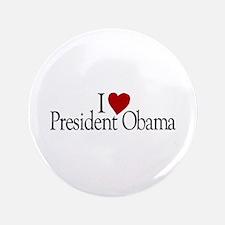"I Love President Obama 3.5"" Button (100 pack)"