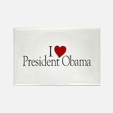 I Love President Obama Rectangle Magnet
