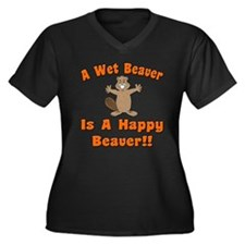 Wet Beaver Is A Happy Beaver Women's Plus Size V-N