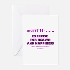 Cute Fitness holiday Greeting Cards (Pk of 20)