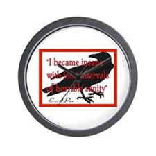 POE QUOTE 2 Wall Clock