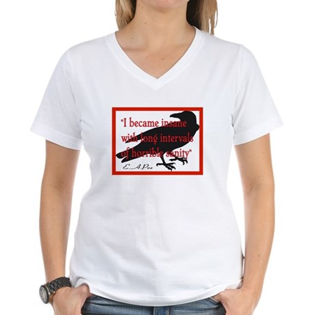 POE QUOTE 2 Women's V-Neck T-Shirt