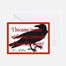 POE QUOTE 2 Greeting Card
