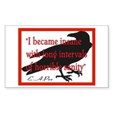 POE QUOTE 2 Rectangle Decal