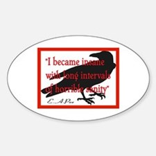 POE QUOTE 2 Oval Decal