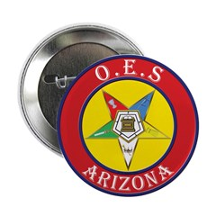 """Arizona Order of the Eastern Star 2.25"""" Button (10"""