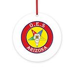 Arizona Order of the Eastern Star Ornament (Round)