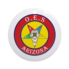 Arizona Order of the Eastern Star Ornament (Round)