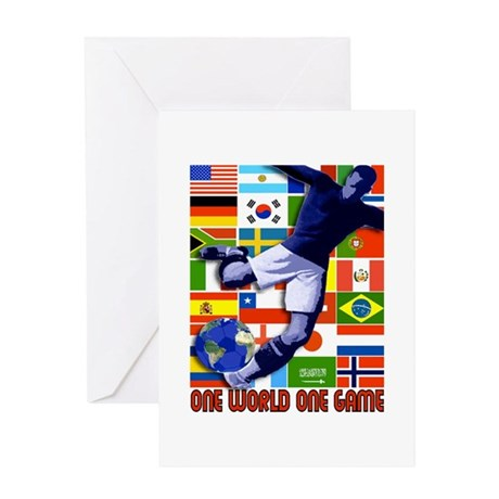 One World One Game Greeting Card