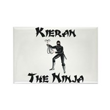 Kieran - Super Hero by Night Rectangle Magnet