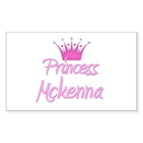 Princess Mckenna Rectangle Sticker