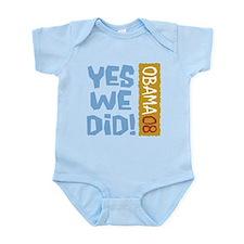 Yes We Did OBAMA 08 Onesie