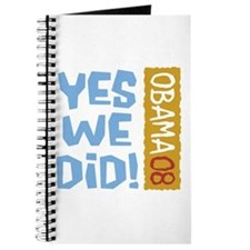 Yes We Did OBAMA 08 Journal