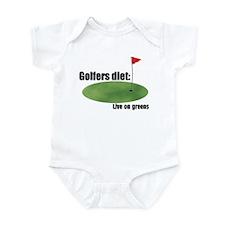 Golfers Diet: Live on Greens Infant Bodysuit