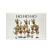Ho Ho Ho Reindeer Rectangle Magnet