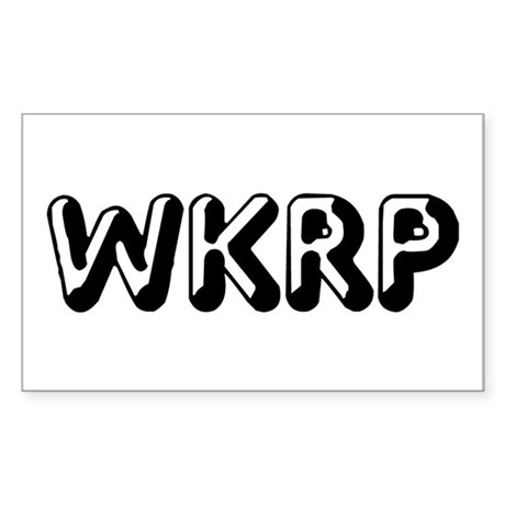 WKRP Rectangle Sticker